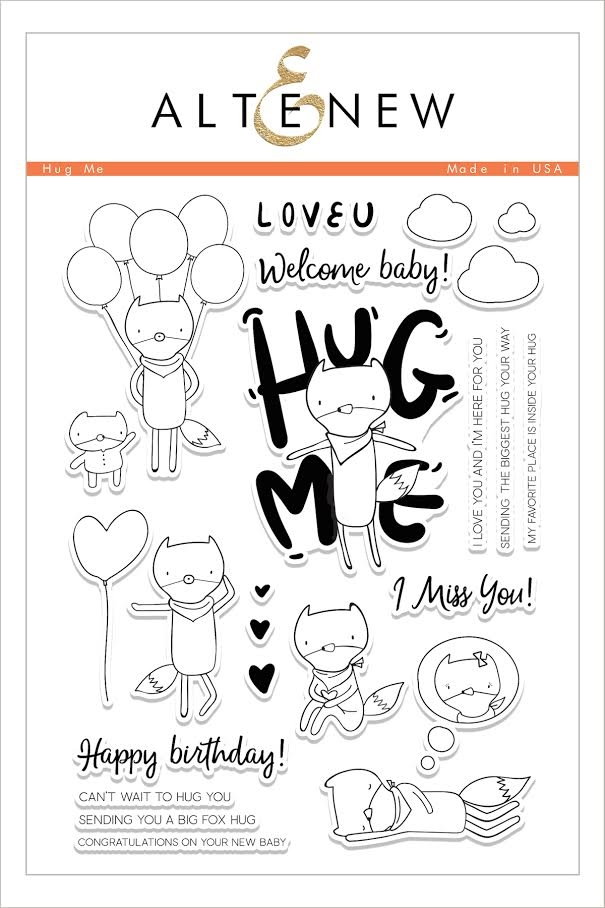 Altenew HUG ME Clear Stamp Set ALT1605 zoom image