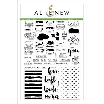 Altenew HANDMADE TAGS Clear Stamp Set