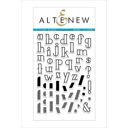 Altenew FILLED ALPHA Clear Stamp Set Preview Image
