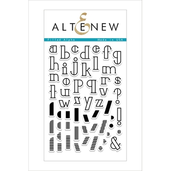Altenew FILLED ALPHA Clear Stamp Set