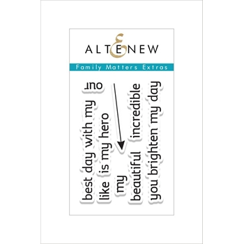 RESERVE Altenew FAMILY MATTERS EXTRA Clear Stamp Set