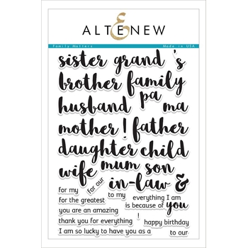 RESERVE Altenew FAMILY MATTERS Clear Stamp Set