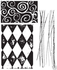 Tim Holtz Cling Rubber Stamps CREATIVE TEXTURES Stampers Anonymous cms004 zoom image