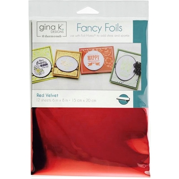 Therm O Web Gina K Designs RED VELVET Fancy Foils Deco Foil 18031