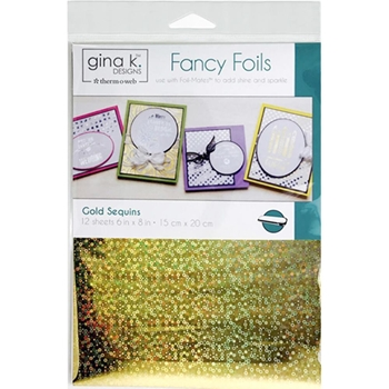 Therm O Web Gina K Designs GOLD SEQUINS Fancy Foils Deco Foil 18037