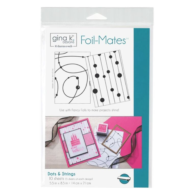 Therm O Web Gina K Designs DOTS AND STRINGS Foil-Mates Sheets 18018 zoom image