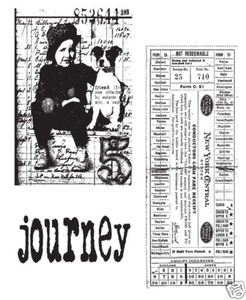 Tim Holtz Cling Rubber Stamps TRAVELING FRIENDS cms022 Stampers Anonymous Preview Image