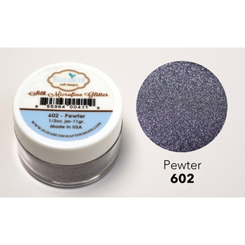 Elizabeth Craft Designs PEWTER Silk Microfine Glitter 602