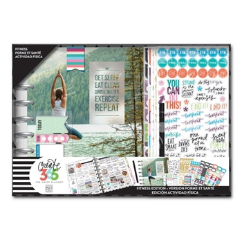 Me And My Big Ideas SWEAT SMILE FITNESS Classic Planner Box Kit Create 365 BOX139