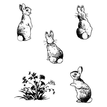 Claritystamp BUNNIES Clear Stamps and Mask STAAN10319A5