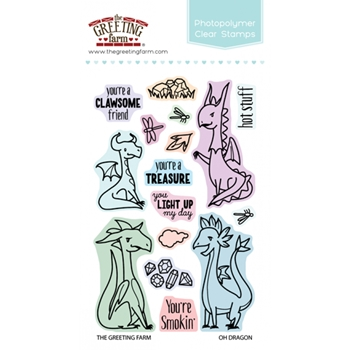 The Greeting Farm OH DRAGON Clear Stamps TGF300