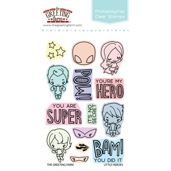 The Greeting Farm LITTLE HEROES Clear Stamps TGF302