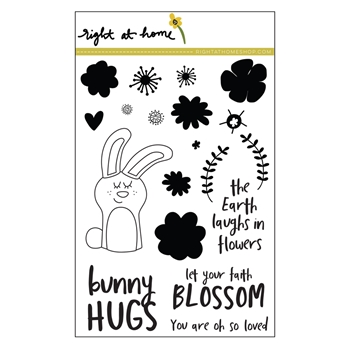 Right At Home BUNNY HUGS Clear Stamp 688685