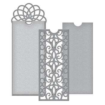 S4-731 Spellbinders Becca Feeken FILIGREE BOOKMARK TAG Etched Dies