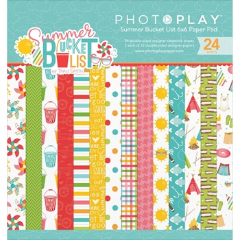 PhotoPlay SUMMER BUCKET LIST 6 x 6 Paper Pad BL2566