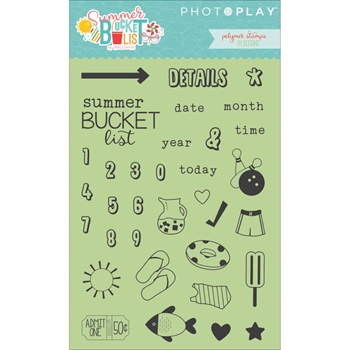 PhotoPlay SUMMER BUCKET LIST Clear Stamps BL2570