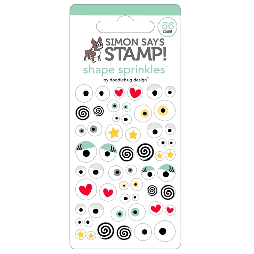 Doodlebug for Simon Says Stamp ALL EYES ON YOU Shape Sprinkles 5655 Preview Image