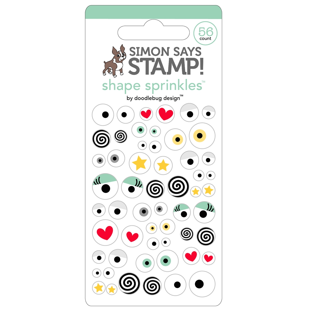 Doodlebug for Simon Says Stamp ALL EYES ON YOU Shape Sprinkles 5655 zoom image