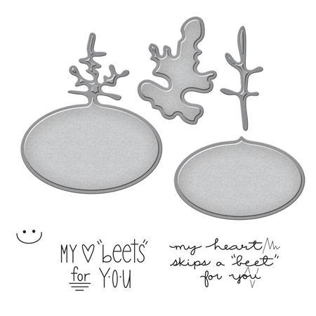 SDS-049 Spellbinders Market Fresh by Debi Adams BEETS ME Cling Stamp and Die Set zoom image