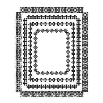 SBS-094 Spellbinders RECTANGLE RADIANCE Cling Stamps