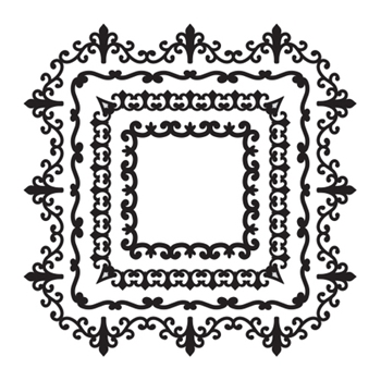 SBS-093 Spellbinders SQUARE MAGNIFICENCE Cling Stamps