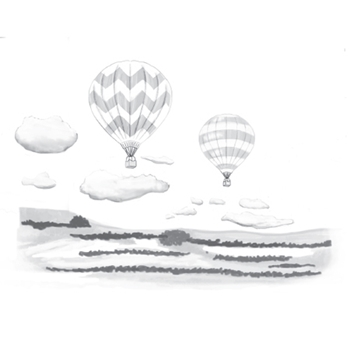 DSC-051 Spellbinders HOT AIR 3D Shading Cling Stamps