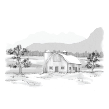 DSC-048 Spellbinders FARMLAND 3D Shading Cling Stamps