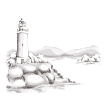 DSC-044 Spellbinders LIGHTHOUSE 3D Shading Cling Stamps