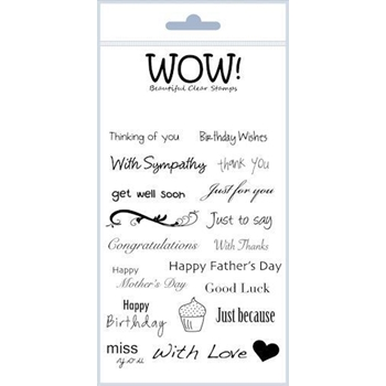 WOW Stamps for Embossing EVERYDAY SENTIMENTS Clear Stamp Set STAMPSET17