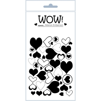 WOW Stamps for Embossing J'ADORE Clear Stamp Set STAMPSET46
