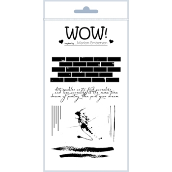 WOW Stamps for Embossing WALL ART Clear Stamp Set STAMPSET44