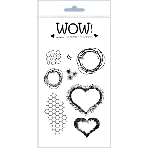 WOW Stamps for Embossing HEARTS AND TWINE Clear Stamp Set STAMPSET43 Preview Image