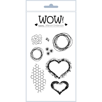 WOW Stamps for Embossing HEARTS AND TWINE Clear Stamp Set STAMPSET43