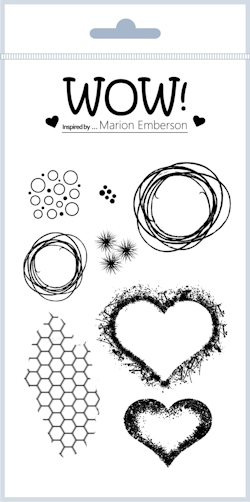 WOW Stamps for Embossing HEARTS AND TWINE Clear Stamp Set STAMPSET43 zoom image