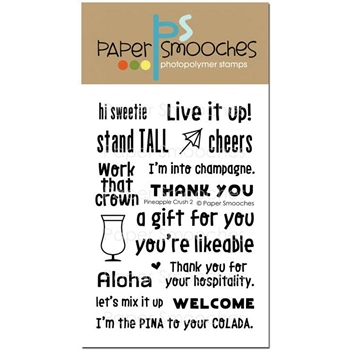 Paper Smooches PINEAPPLE CRUSH 2 Clear Stamps A1S283