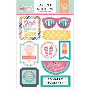 Echo Park SUMMER DREAMS Layered Stickers DR126025