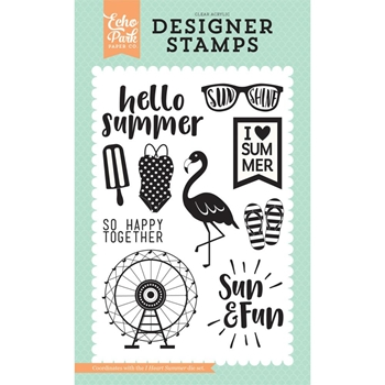 Echo Park I HEART SUMMER Clear Stamps DR126046
