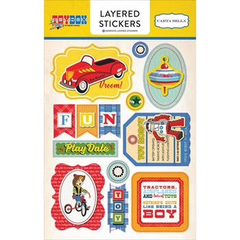 Carta Bella TOY BOX Layered Stickers CBTB66025
