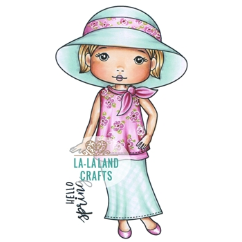La-La Land Crafts Cling Stamp SPRING HAT MOLLI  2022