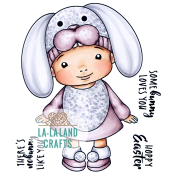 La-La Land Crafts Cling Stamp SOME BUNNY BABY MARCI 5343