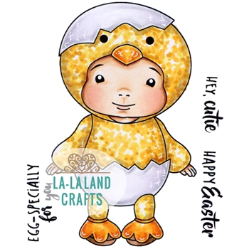 La-La Land Crafts Cling Stamp LITTLE CHICK BABY LUKA 5342