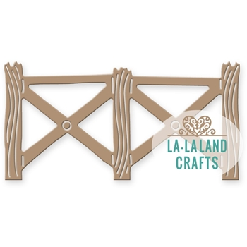 La-La Land Crafts COUNTRY FENCE Die Set 8295