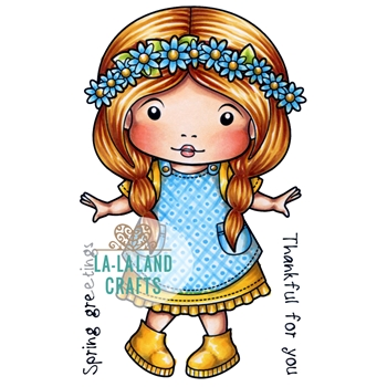 La-La Land Crafts Cling Stamp ON THE FARM MOLLI 5344