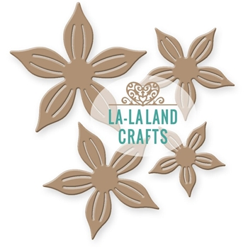 La-La Land Crafts POINTY FLOWERS Die Set 8287