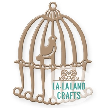 La-La Land Crafts BIRDCAGE WITH BIRD Die Set 8302