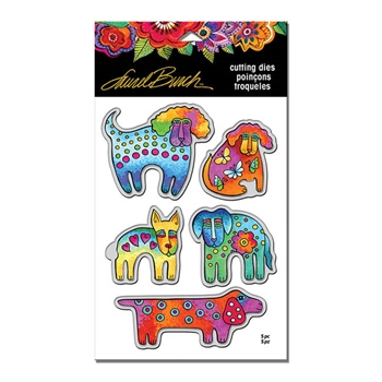Stampendous DOG PARK DIE CUT SET Laurel Burch LBDCS04