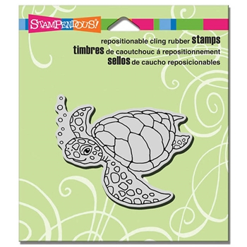 Stampendous Cling Stamp SEA TURTLE Rubber UM CRV334
