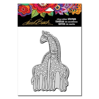 Stampendous Cling Stamp GIRAFFES UM Laurel Burch LBCP003
