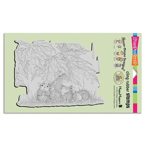 Stampendous Cling Stamp RAINFALL SHELTER Rubber UM HMCR101 House Mouse Preview Image