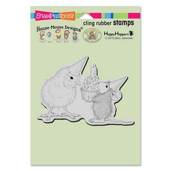 Stampendous Cling Stamp BIRTHDAY CHICK Rubber UM HMCP75 House Mouse